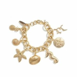 Lilly Pulitzer Target Gold Charm Bracelet